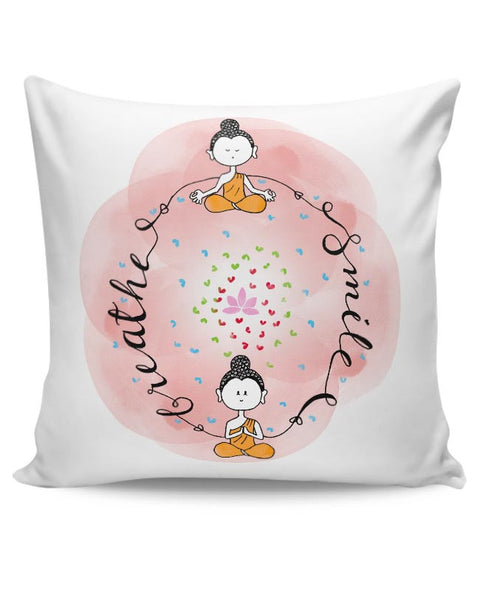 Breathe & Smile Cushion Cover Online India