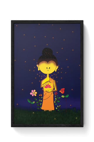 Whimsical Buddha Framed Poster Online India