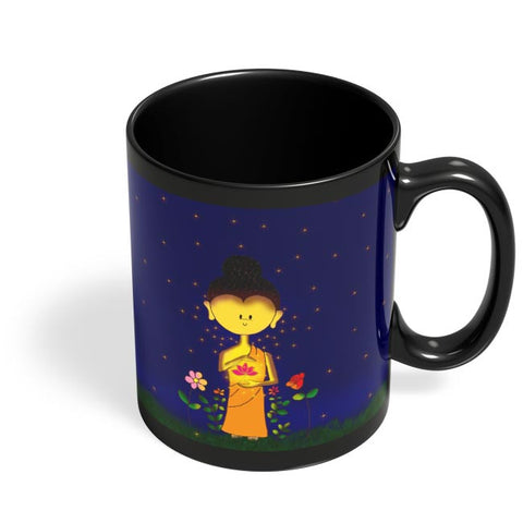 Whimsical Buddha Black Coffee Mug Online India
