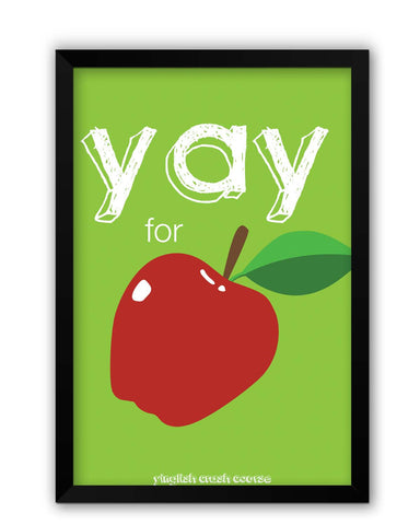 Framed Posters | Yay for Apple Yinglish Crash Course Laminated Framed Poster Online India
