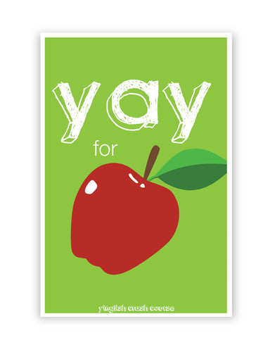 Posters Online | Yay for Apple Yinglish Crash Course Poster Online India | Designed by: Harjot Sokhey
