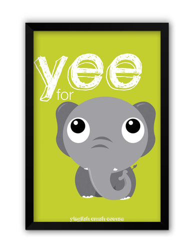Framed Posters | Yee For Elephant Yinglish Crash Course Laminated Framed Poster Online India