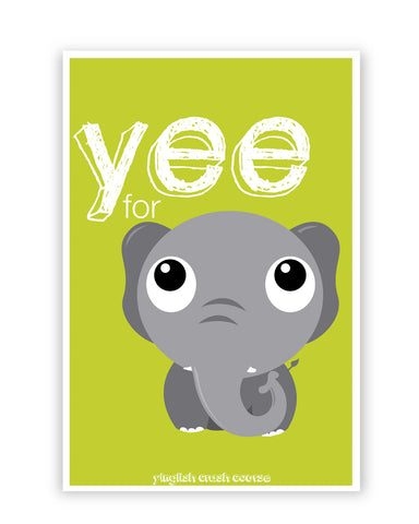 Posters Online | Yee For Elephant Yinglish Crash Course Poster Online India | Designed by: Harjot Sokhey