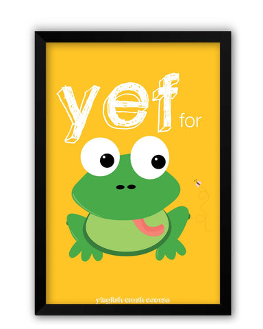 Framed Posters | Yef For Frog Yinglish Crash Course Laminated Framed Poster Online India