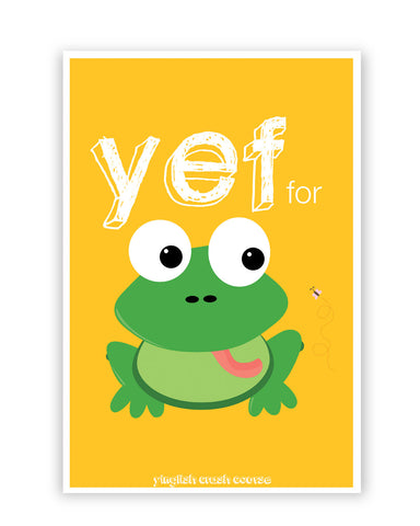 Posters Online | Yef For Frog Yinglish Crash Course Poster Online India | Designed by: Harjot Sokhey