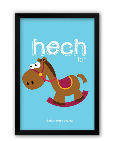 Framed Posters | Hech For Horse Yinglish Crash Course Laminated Framed Poster Online India