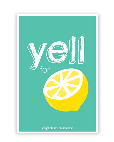 Posters Online | Yell For Lemon Yinglish Crash Course Poster Online India | Designed by: Harjot Sokhey