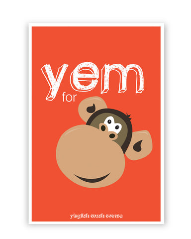 Posters Online | Yem For Monkey Yinglish Crash Course Poster Online India | Designed by: Harjot Sokhey