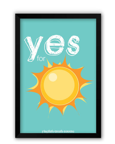 Framed Posters | Yes for Sun Yinglish Crash Course Laminated Framed Poster Online India