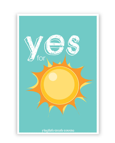 Posters Online | Yes for Sun Yinglish Crash Course Poster Online India | Designed by: Harjot Sokhey