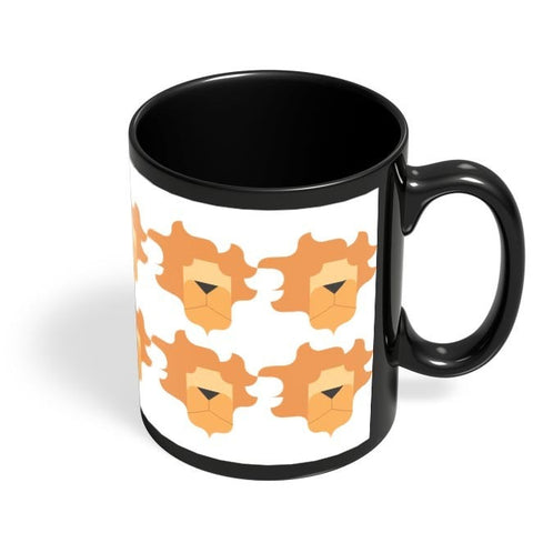 Coffee Mugs Online | Leo Pattern Black Coffee Mug Online India