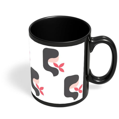 Coffee Mugs Online | Virgo Pattern Black Coffee Mug Online India