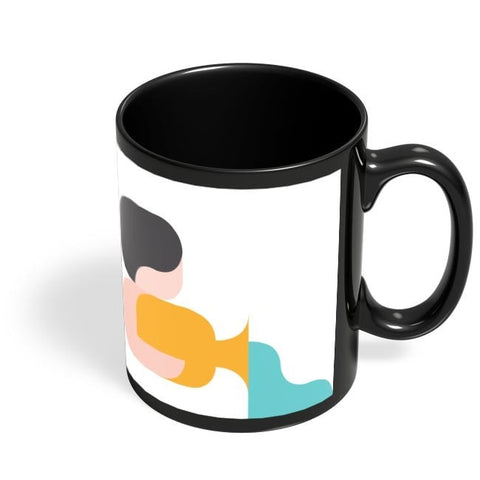 Coffee Mugs Online | Aquarius Black Coffee Mug Online India