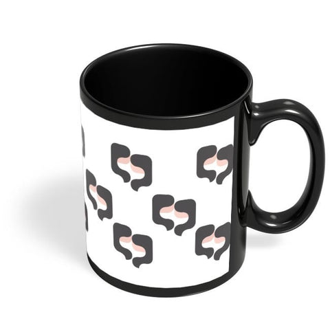 Coffee Mugs Online | Gemini Pattern Black Coffee Mug Online India