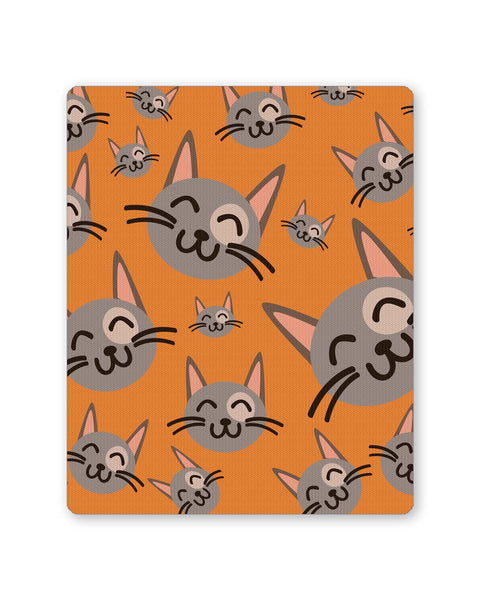 Buy Mousepads Online India | Cute Happy Cats Pattern Mouse Pad Online India