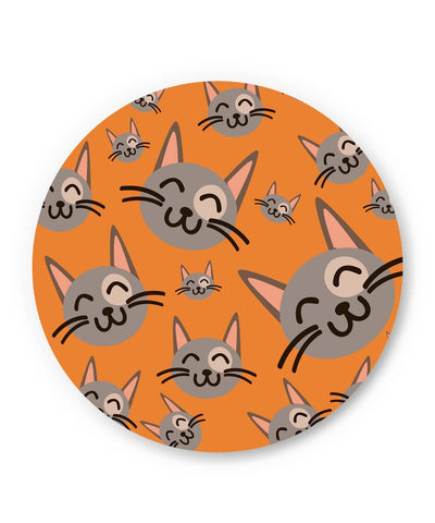 PosterGuy | Cute Happy Cats Pattern Fridge Magnet Online India by Vaibhav Designs