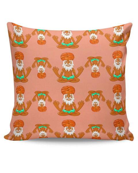 PosterGuy | Quirky Baba Pattern Cushion Cover Online India