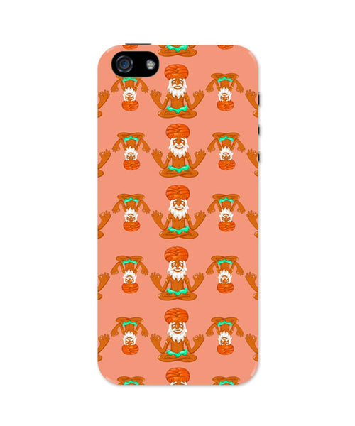 iPhone 5 / 5S Cases & Covers | Quirky Baba Pattern iPhone 5 / 5S Case Online India