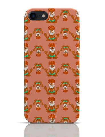 Quirky Baba Pattern  iPhone 7 Covers Cases Online India