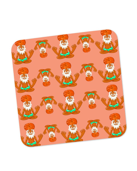 Buy Coasters Online | Quirky Baba Pattern Coaster Online India | PosterGuy.in