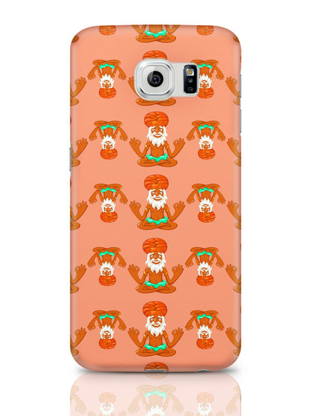 Samsung Galaxy S6 Covers & Cases | Quirky Baba Pattern Samsung Galaxy S6 Covers & Cases Online India