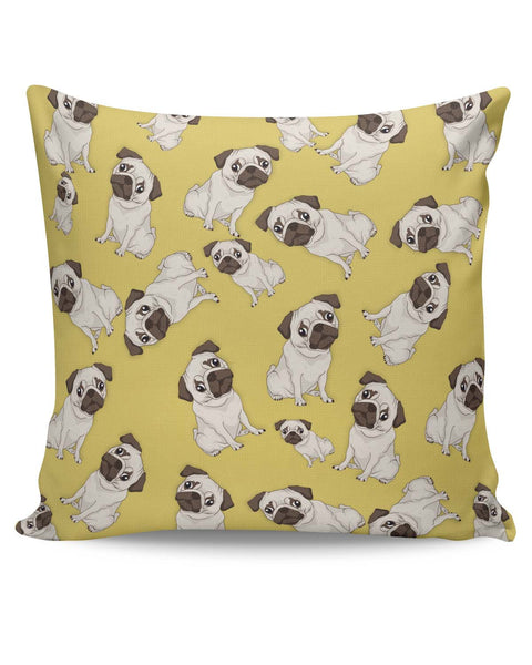 PosterGuy | Pug Life Pattern Cushion Cover Online India