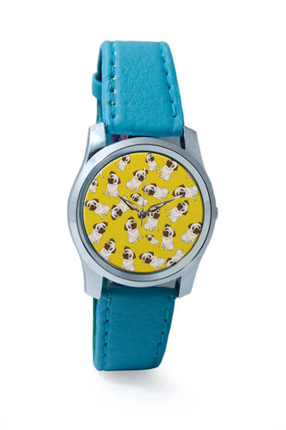 Women Wrist Watch India | Pug Life Pattern Wrist Watch Online India