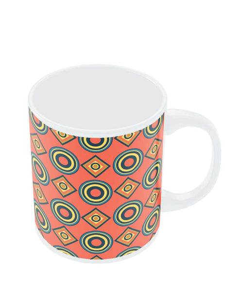 Coffee Mugs Online | Abstract Circle Rings Pattern Mug Online India