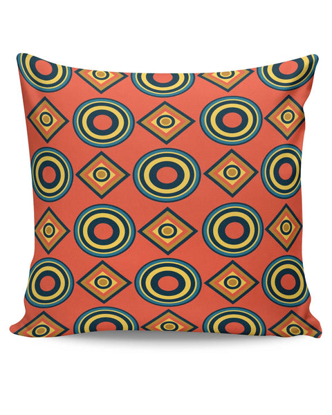 PosterGuy | Abstract Circle Rings Pattern Cushion Cover Online India