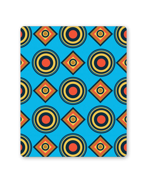 Buy Mousepads Online India | Abstract Circle Rings Pattern (Blue) Mouse Pad Online India