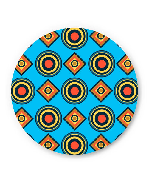 PosterGuy | Abstract Circle Rings Pattern (Blue) Fridge Magnet Online India by Vaibhav Designs