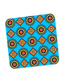 Buy Coasters Online | Abstract Circle Rings Pattern (Blue) Coaster Online India | PosterGuy.in