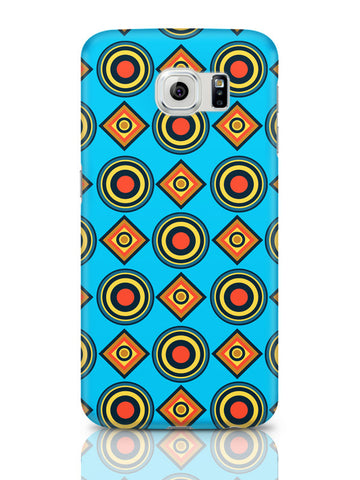Samsung Galaxy S6 Covers & Cases | Abstract Circle Rings Pattern (Blue) Samsung Galaxy S6 Covers & Cases Online India