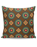 PosterGuy | Abstract Tribal Circle Rings Pattern (Brown) Cushion Cover Online India