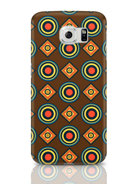 Samsung Galaxy S6 Covers & Cases | Abstract Tribal Circle Rings Pattern (Brown) Samsung Galaxy S6 Covers & Cases Online India