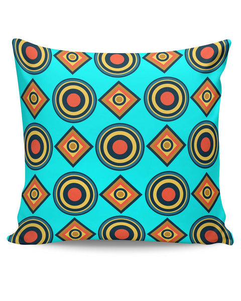 PosterGuy | Abstract Tribal Circle Rings Pattern (Sky Blue) Cushion Cover Online India