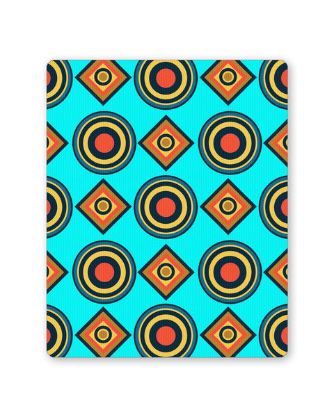 Buy Mousepads Online India | Abstract Tribal Circle Rings Pattern (Sky Blue) Mouse Pad Online India