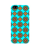 iPhone 5 / 5S Cases & Covers | Abstract Tribal Circle Rings Pattern (Sky Blue) iPhone 5 / 5S Case Online India
