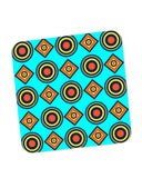 Buy Coasters Online | Abstract Tribal Circle Rings Pattern (Sky Blue) Coaster Online India | PosterGuy.in