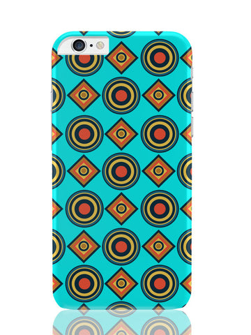 iPhone 6 Plus / 6S Plus Covers & Cases | Abstract Tribal Circle Rings Pattern (Sky Blue) iPhone 6 Plus / 6S Plus Covers and Cases Online India