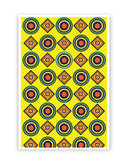 Posters Online | Abstract Tribal Circle Rings Pattern (Yellow) Poster Online India | Designed by: Vaibhav Designs