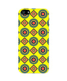 iPhone 5 / 5S Cases & Covers | Abstract Tribal Circle Rings Pattern (Yellow) iPhone 5 / 5S Case Online India