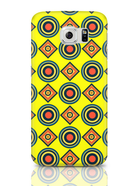 Samsung Galaxy S6 Covers & Cases | Abstract Tribal Circle Rings Pattern (Yellow) Samsung Galaxy S6 Covers & Cases Online India