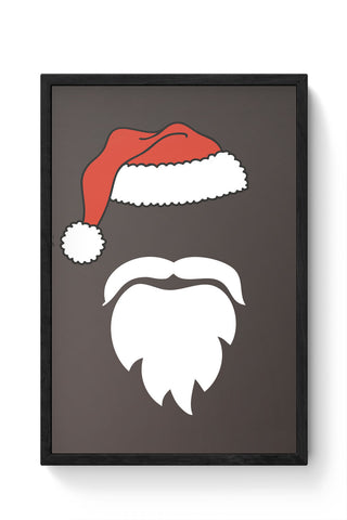Framed Posters Online India | Minimal Santa Claus Illustration Laminated Framed Poster Online India