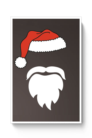Posters Online | Minimal Santa Claus Illustration Poster Online India | Designed by: Vaibhav Designs