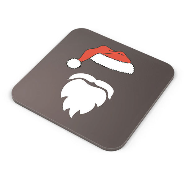 Buy Coasters Online | Minimal Santa Claus Illustration Coaster Online India | PosterGuy.in