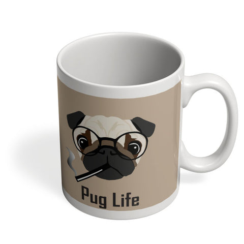 Coffee Mugs Online | Pug Life Funny Dog illustration Mug Online India