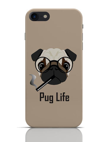 Pug Life Funny Dog illustration iPhone 7 Covers Cases Online India