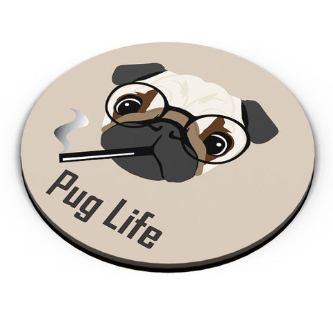 PosterGuy | Pug Life Funny Dog illustration Fridge Magnet Online India by Vaibhav Designs