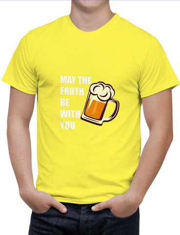 Buy May The Froth Be With you Woman T-Shirts Online India | May The Froth Be With you T-Shirt | PosterGuy.in